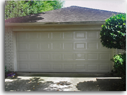New replacement garage door