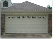 new garage door with pleasing window design